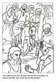Kleurplaat Jezus zit op ezel